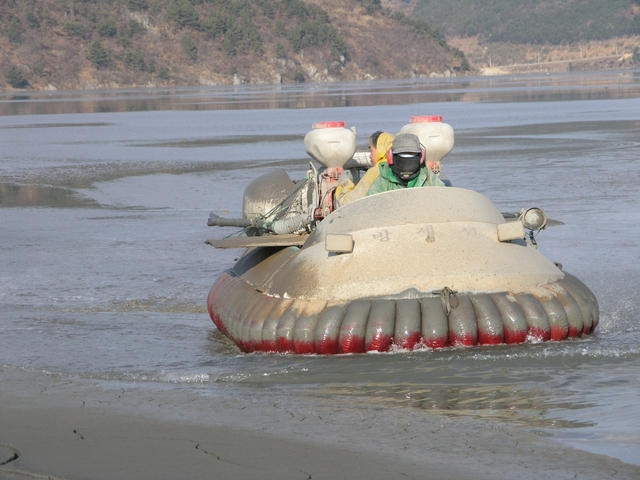 Pusan New Port commercial hovercraft photo